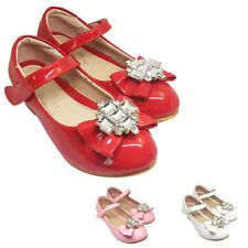 filles enfants DEMOISELLE D'honneur Chaussures de soirée taille 7-3