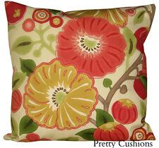Sanderson Tree Poppy Tomato & Olive Cushion Cover