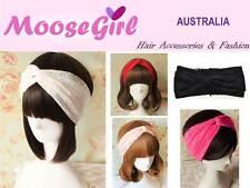 Lace Stretch Turban Headband Cross Hair Band Elastic Wide Head Wrap Hair Band