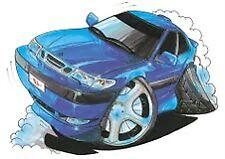 Saab 9-3 Blue Coupe Cartoon car t-shirt in sizes S-3XL viggen turbo diesel sport