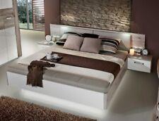 Doppelbett Rubio 1 Sandeiche weiß Hochglanz 180x200 Ehebett mit 2x Nachtkonsole