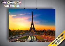 Poster Paris tour Eiffel Couché de soleil