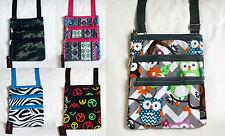 NEW Print Hipster Messenger Bag Cross Body Shoulder Handbag – 5 designs