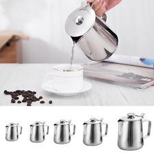 Pichet à Lait Café + Couvercle Tasse Pot Mousse Art Ustensil Cuisine Cadeau DIY