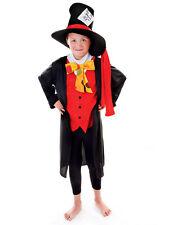 Bambini Ragazzi Cappellaio Matto Alice nel Paese delle Meraviglie Libro Giorno Settimana Costume 4-12