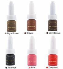10ML/Bottle Microblading Permanent Makeup Tattoo Ink Pigment Kit Set Eyebrow Lip