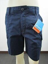 "Mens Columbia Boulder Ridge Cargo 8"" or 10"" Inseam Cotton Casual Shorts - Navy"