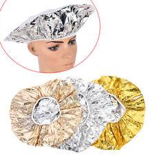 Chapeau masque bonnets de douche de cheveux en papier d'aluminium élastique  SQ
