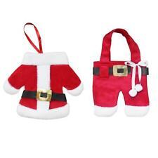 Christmas Clothes Knife Fork Bag Xmas Cutlery Holder Dinner Table Decor BEST