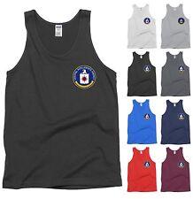 CIA Central Intelligence Agency Seal Tank Top USA Spy Shirt - NEW