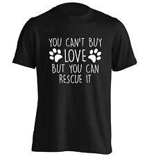 No puede comprar amor, pero puede de rescate, Camiseta Cachorro Perro Gato Mascota Animal Gatito Regalo 467