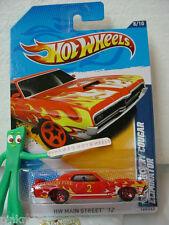 2012 i Hot Wheels '69 MERCURY COUGAR ELIMINATOR #168☆Red☆Cranston Fire,Engine☆G