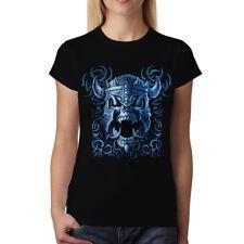 Viking Helmet War Skull Battle Womens T-shirt XS-3XL