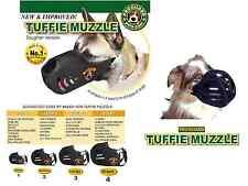 TUFFIE Dog MUZZLE Comfort Padded NO BITE EXTRA HEAVY DUTY QUICK EasyFIT TRAINING