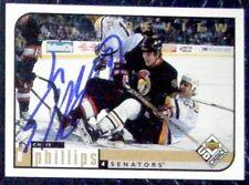 Chris Phillips Ottawa Senators 1998-99 Collectors Choice Preview Signed Card