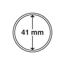 Capsules numismatiques rondes 41 mm pour monnaies de collection.