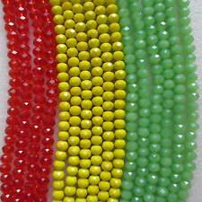 De 4mm 6mm 8mm Jamaïque Perles à Facettes Rondelle belle cristal de verre dans les chaînes
