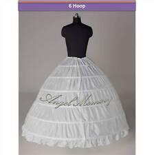 6-HOOP/3-hoop wedding gown crinoline petticoat skirt slip