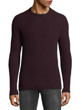 Saks Fifth Avenue Mens Chili Burgundy Raglan 100% Cashmere Crewneck Sweater $325