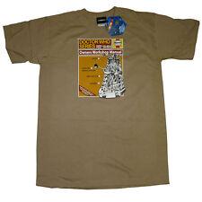 Dr Who Haynes Manual Dalek OFFICIAL Tan T-Shirt K9 Cyberman Weeping Angels 14G