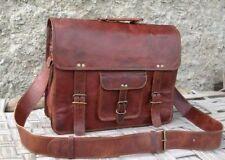 Men's Business Leather Handbag Messenger Laptop Shoulder Bag Work Briefcase US