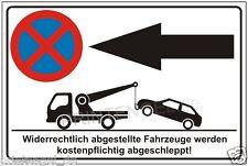Parkverbot,Parkplatz,Schilder,Pfeil,nach,links,Halteverbot,Parkenverboten, P186