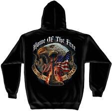 Erazor Bits Hooded Sweatshirt Sweater Hoodie US Home Of The Free Eagle Flag