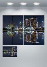 MARINA BAY Sands Singapur Poster Artistico Gigante Stampa-a3/a4 sezioni o 1 PEZZI