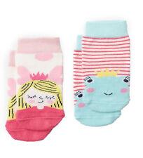 Tom Joule Baby Bambus Socken Söckchen 2er Set Froschkönig Prinzessin 0-24 Monate