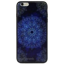 Dark Blue Mandala hard Case for Apple iPhone 6 5 5S SE 5C 6 6s Plus + Cover
