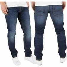 Jack & Jones Mens Tim CR011 Original Slim Fit Distressed Jeans Dark Used Look