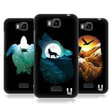 Animale Design HEAD CASE Doppia Esposizione HARD BACK CASE per HUAWEI telefoni 2