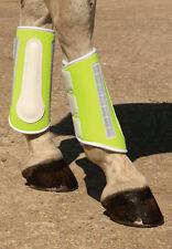 Harlequin Reflective Hi Viz  Brushing Boots Pony Cob Full - Yellow Or Black