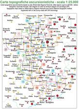 Mappa Cartina Escursionistica FRATERNALI EDITORE Scala 1:25000 Italia Nord Ovest