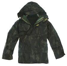 MENS WATERPROOF WINDPROOF JACKET gents green camo hunters fishing country coat