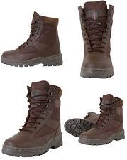Militare Mezza Pelle Esercito Combattimento PATROL Boot Brown Tactical tutte le taglie nuovo CADET
