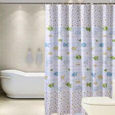 Polyester Waterproof Shower Curtain Cartoon Fish Printed Bathroom Curtain J