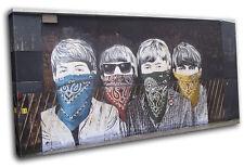 Graffiti Pop Beatles Banksy Street SINGLE CANVAS WALL ART Picture Print VA