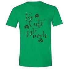 St Patricks Day shirt Clover Cute to pinch Irish Unisex Men T-Shirt Green Tee 6