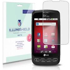 iLLumiShield Matte Screen Protector w Anti-Glare/Print 3x for LG Optimus V
