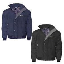 Para Hombre Nuevo Sky Diver Bomber cálido Acolchado cuadros Forrado Lluvia Trabajo Pesado chaqueta de abrigo
