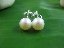 925 sterling silver white Fresh Water Pearl 6 mm to 11 mm studs Earrings women