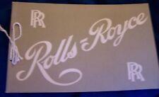UK Rolls Royce Car Club Auto Dealer Showroom Sales Catalog Manual Brochure Sedan