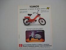 advertising Pubblicità 1978 TOMOS / LAMBRETTA 150 DL