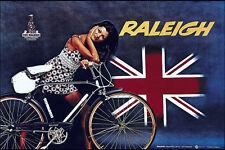 Raleigh Bicicleta Vintage ad Camiseta. Caballeros Damas & Niños Tamaños. Ciclismo Bicicleta Tee