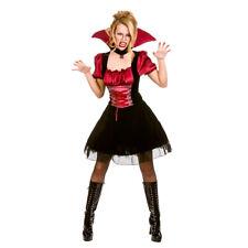 Adults Ladies Bloodlust Vamp Costume Dracula Halloween Vampire Fancy Dress