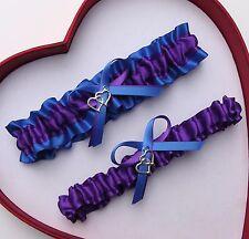NEW Gorgeous Purple Royal Wedding Garter Prom Homecoming GetTheGoodStuff Heart