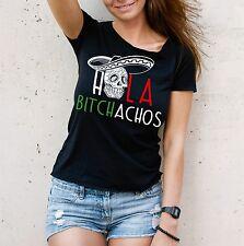 WT T-Shirt HOLA BITCHACHOS muerte Skull Mexico Bitch spanisch Spruch Siviwonder