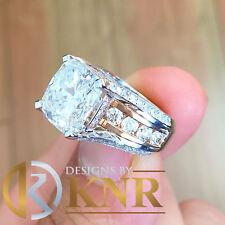 14k White Gold Cushion Forever One Moissanite Diamonds Engagement Ring 6.50ctw