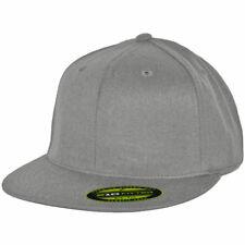 Flexfit 210 Fitted Flex Hat (Grey) Men's Charcoal Stretch High Crown Cap